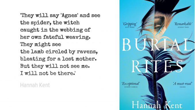 Quote and Cover of Burial Rites by Hannah Kent