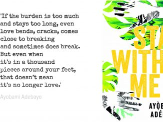 quote and cover of stay with me by ayobami adebayo