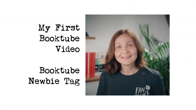 this is me, Amalia filming my first booktube video